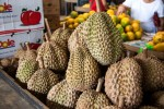 Durians at the Pasig market in the Philippines © Quentin Gaudillière