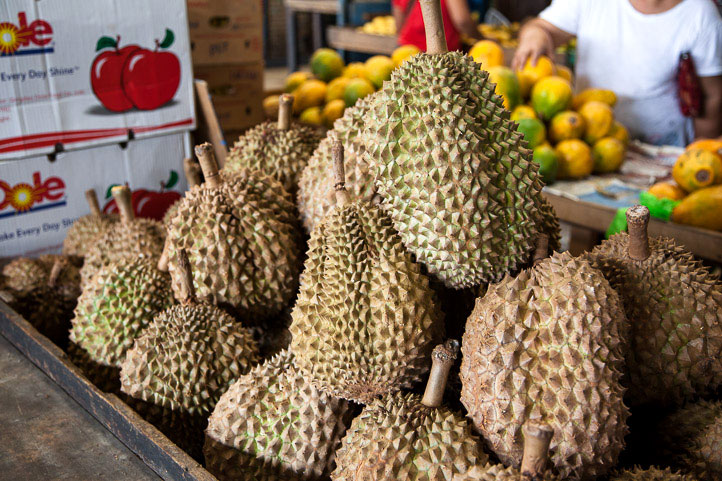 how to open durian fruit