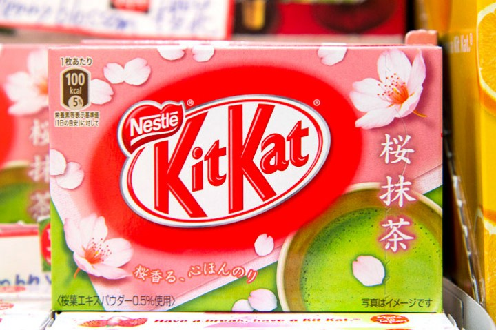 Kit Kat cherry blossom and green tea © Camille Oger