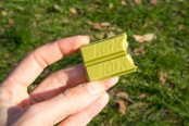 Kit Kat green tea flavour half-eaten  Camille Oger