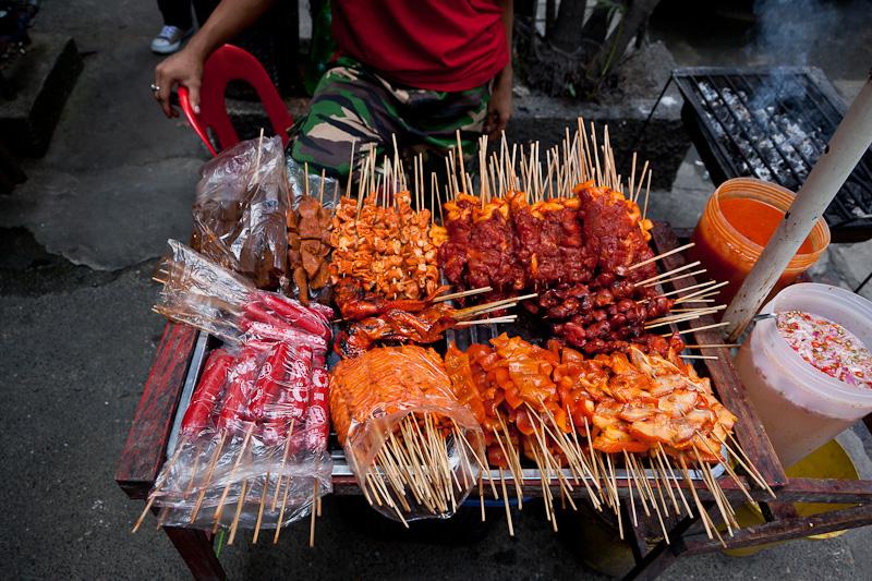 Brochettes de poulet à Manille © Quentin Gaudillière
