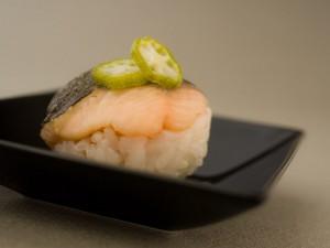 Temari sushi à la truite et gombo © Gaudillière