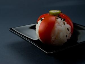 Temari sushi tomate et gombo