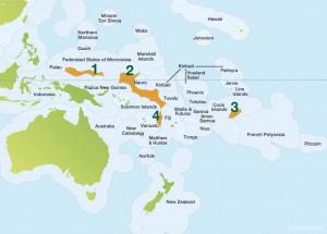 Zones d'exclusion de pêche par la WCPFC © Greenpeace.org