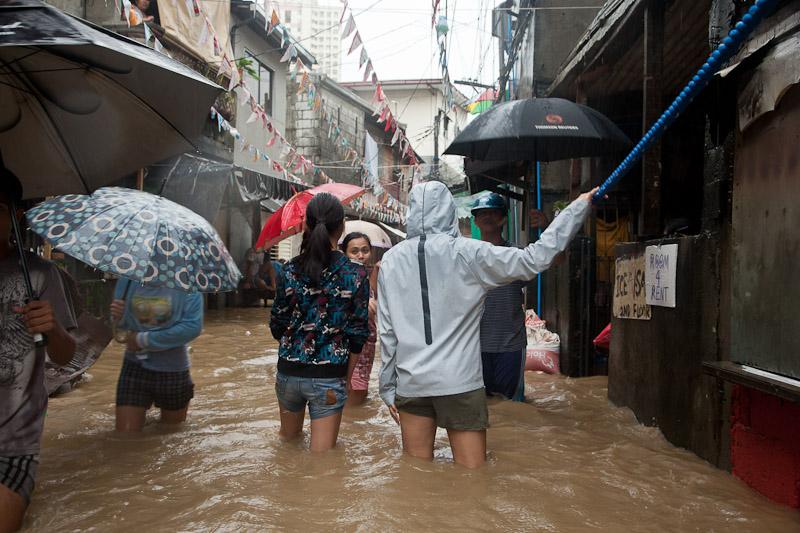 Rue de Santolan inondée © Quentin Gaudillière