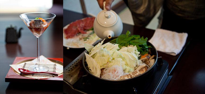 Tartare de saumon et sukiyaki de boeuf © Quentin Gaudillière