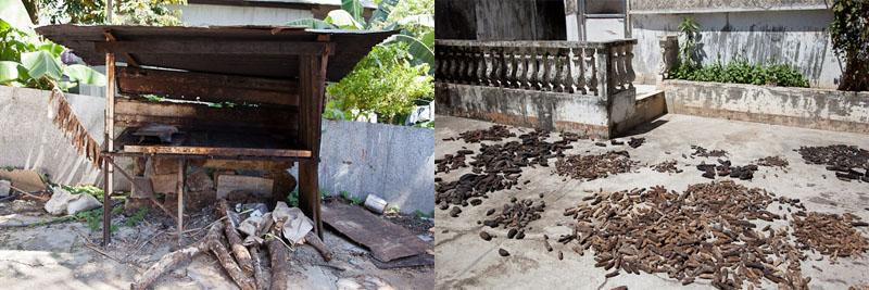 Fumoir, séchage des concombres de mer © Quentin Gaudillière