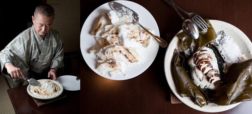 Yoshio et le bar en croûte de sel © Quentin Gaudillière