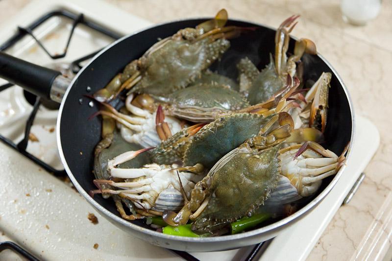 Crabes au lait de coco © Quentin Gaudillière