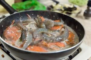 Crabes et crevettes au lait de coco © Quentin Gaudillière