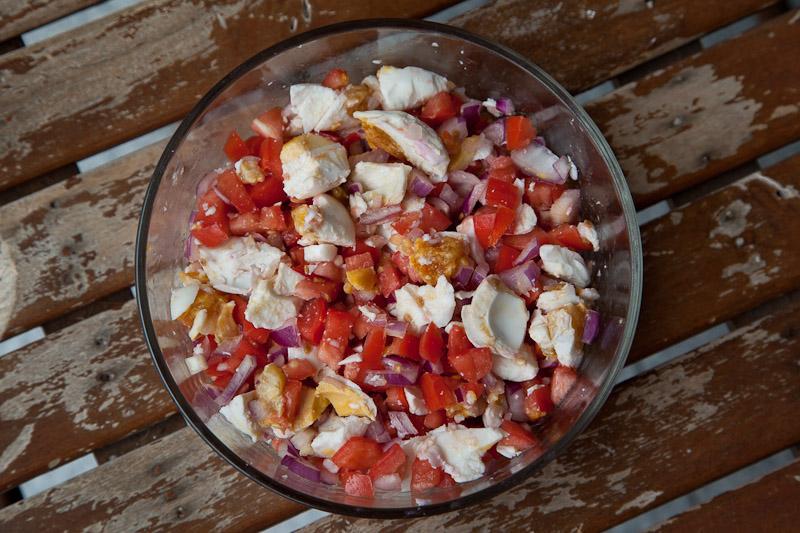 Salade d'oeufs salés © Quentin Gaudillière