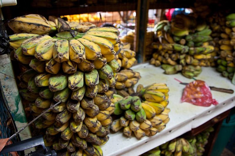 Bananes saba au marché © Quentin Gaudillière
