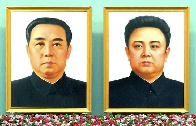 Kim Il-sung et Kim Jong-il