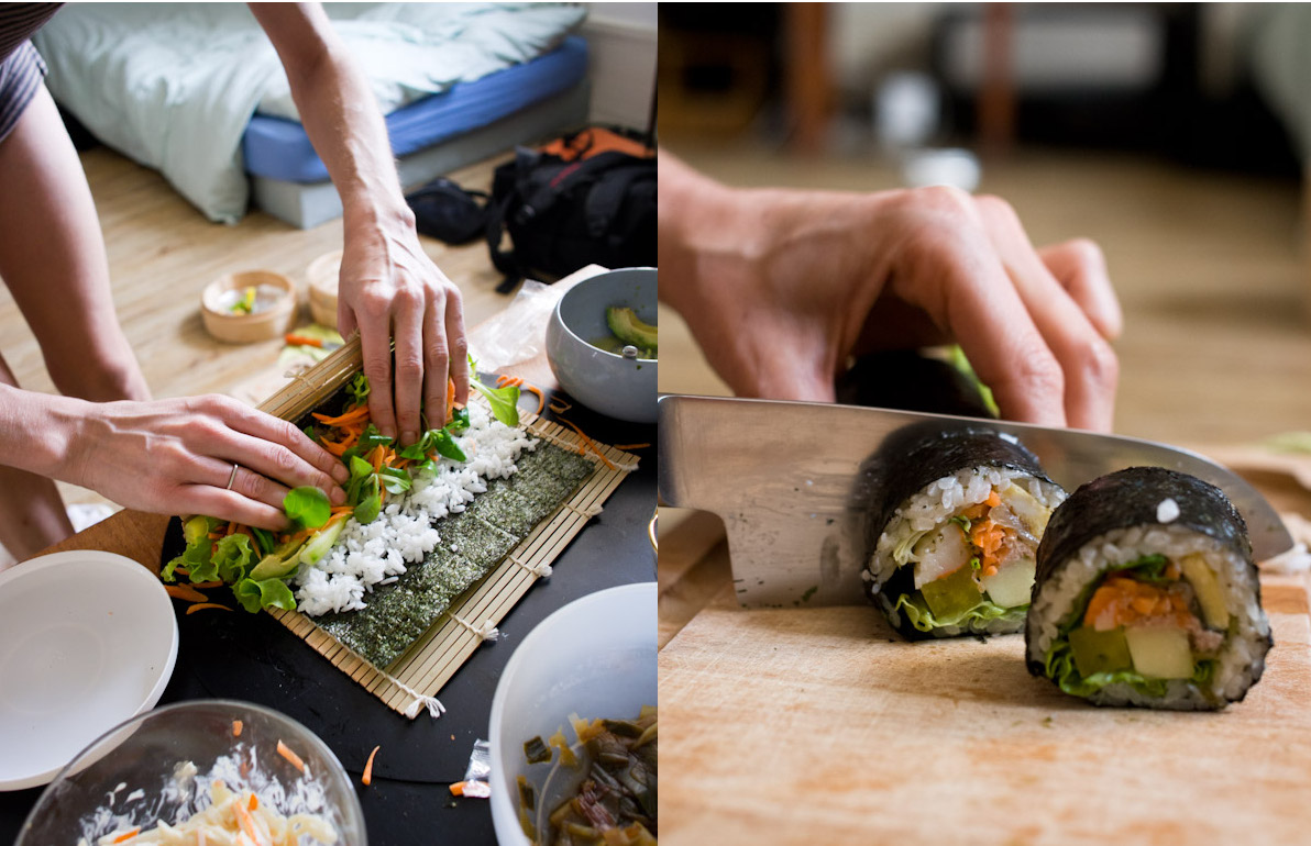 Roll and cut your kimbap  Quentin Gaudillire