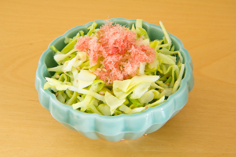 Sakura denbu sur salade © Camille Oger