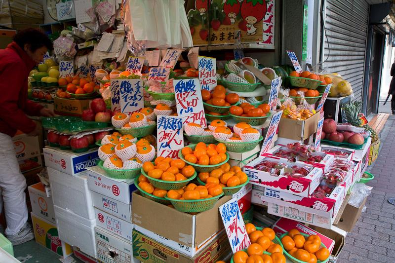 Pas de marché mais des magasins spécialisés en fruits et légumes © Camille Oger