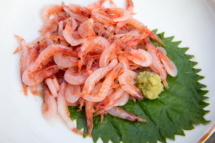 Sakura ebi sashimi à Shimizu © Camille Oger