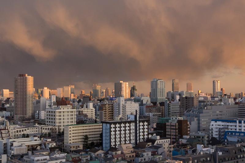 Coucher de soleil sur Tokyo © Camille Oger