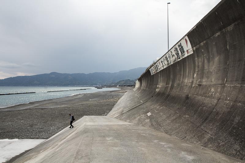 Mur anti-tsunami, Kambara © Camille Oger