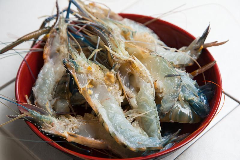 Demi-crevettes vidées © Quentin Gaudillière