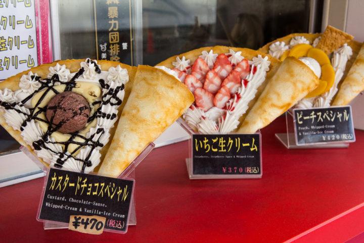 Crêpes en plastque à Tokyo © Camille Oger