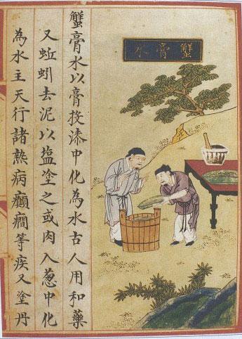 Xiehuang shui, l'eau d'oeufs de crabe © Wellcome Library
