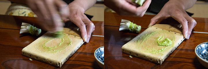 L'art de râper le wasabi © Camille Oger