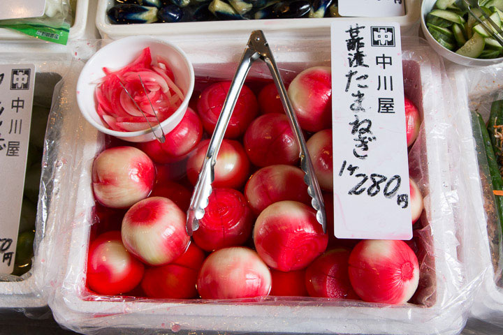 Tsukemono d'oignons, teints naturellement © Camille Oger