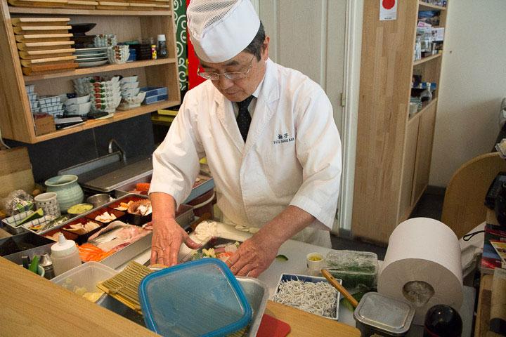 Keiji Sakaguchi en plein travail © Camille Oger