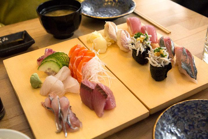 Sushi et sashimi chez Yuzu à Nice © Camille Oger