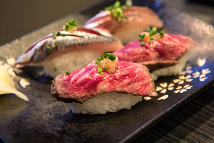 Sushi de wagyu made in France © Camille Oger