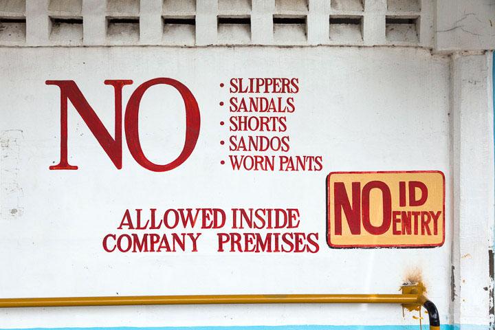 Entrée de l'usine Ocean Canning à General Santos © Quentin Gaudillière