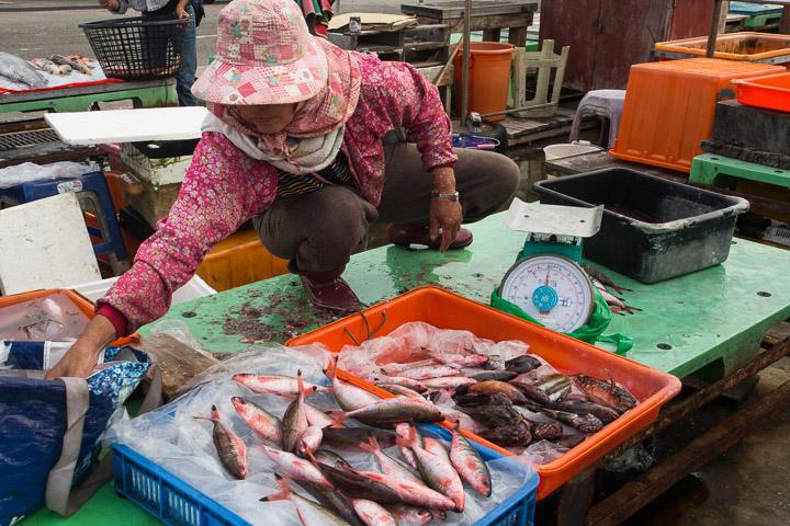 Marché aux poissons de Penghu, Taïwan © Camille Oger