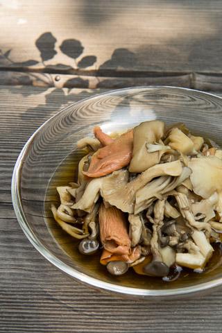 Champignons marinés à la japonaise © Camille Oger