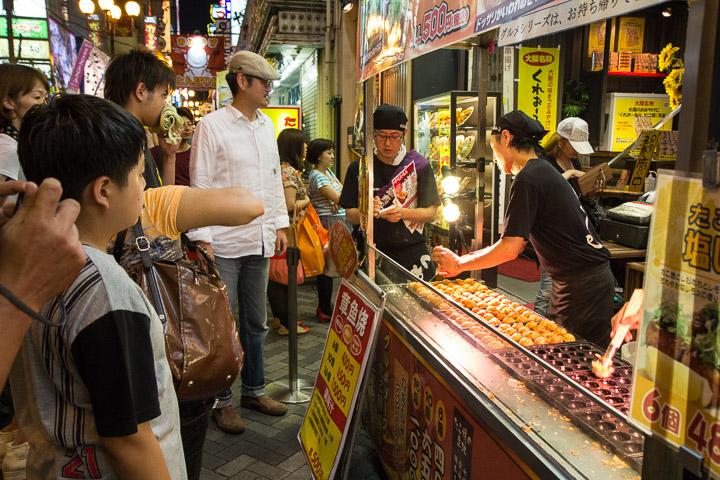 Street food, centre ville d'Osaka © Camille Oger