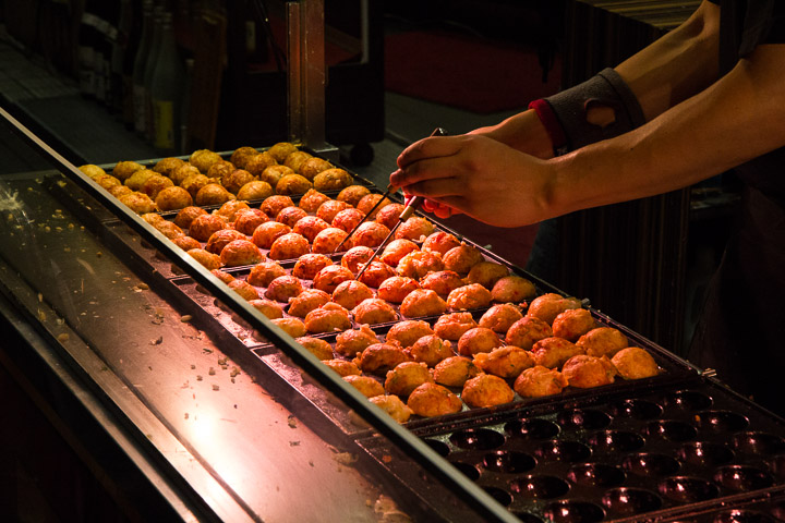 Stand de takoyaki © Camille Oger