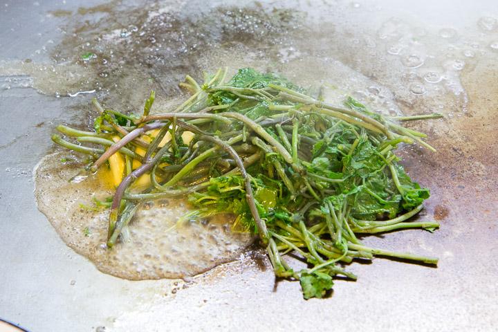 Le cresson, ça cuit vite © Camille Oger