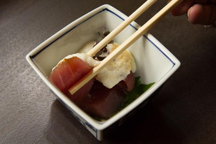Sashimi au nagaimo, restaurant Fugetsuro, Shizuoka © Camille Oger