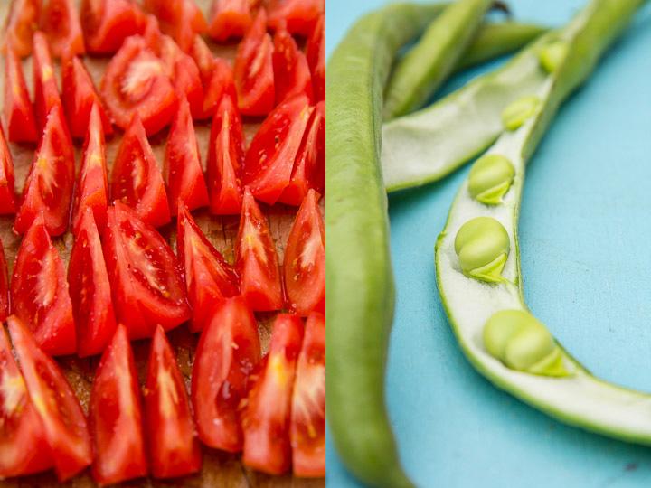 Tomates qui dégorgent et févettes © Camille Oger