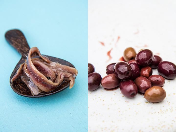 Olives de Nice cueillies par mes soins et anchois © Camille Oger