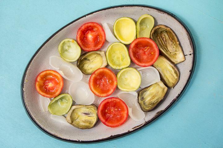 Légumes creusés à farcir © Camille Oger