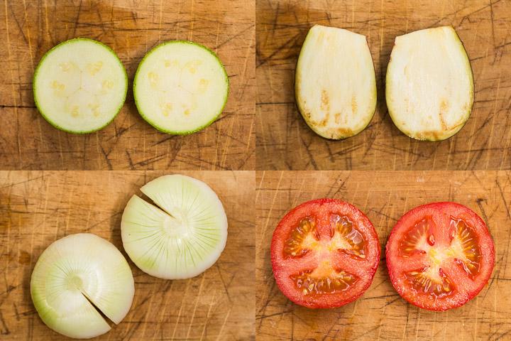 Découpe des légumes pour farcis © Camille Oger