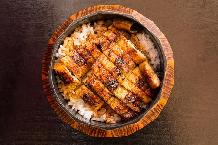 Unagi ou anguille japonaise en hitsumabushi © Camille Oger