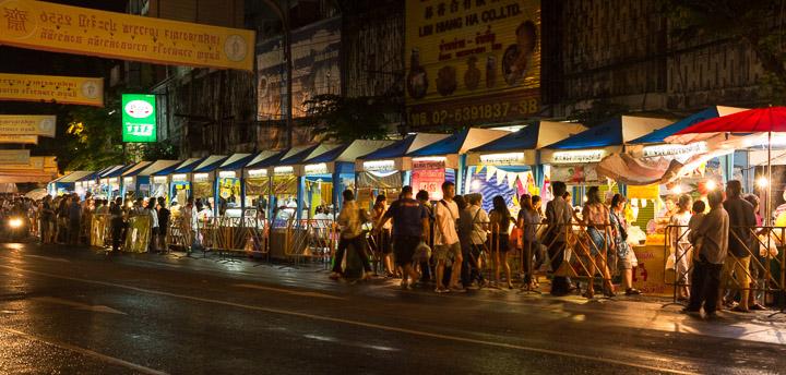 Des stands de street food végétarienne par centaines © Camille Oger