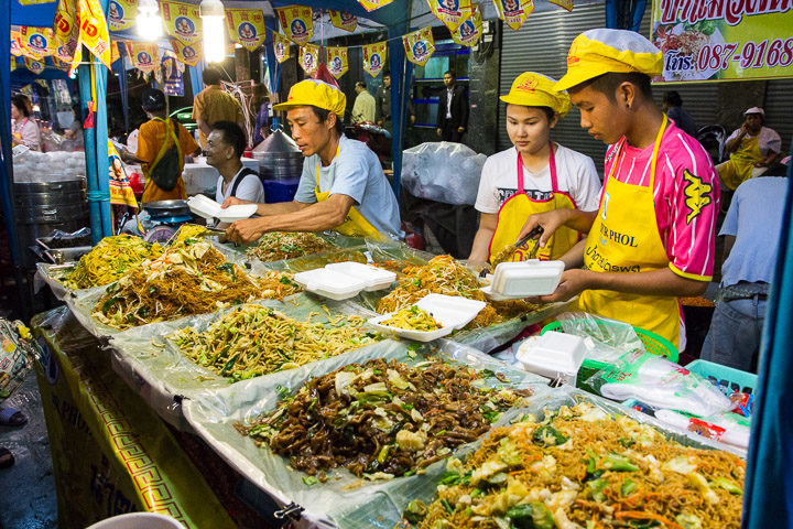 Stand de nouilles au festival végétarien © Camille Oger