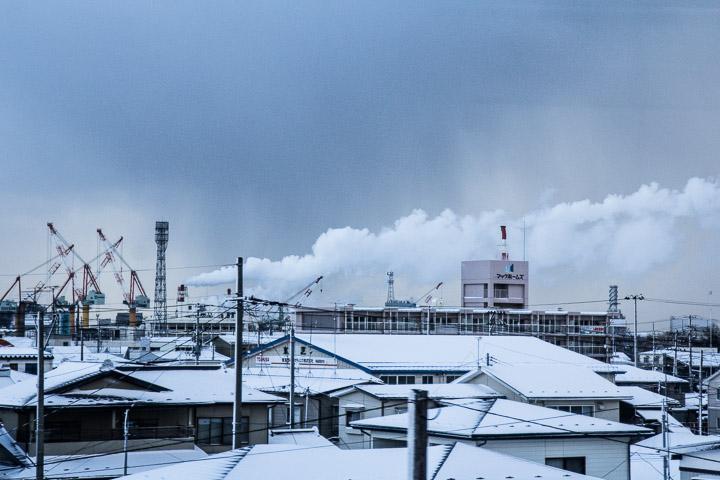 Hachinohe, la ville, le port, l'usine © Camille Oger