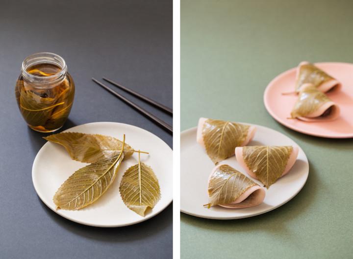 Feuilles de cerisier et sakuramochi © Camille Oger