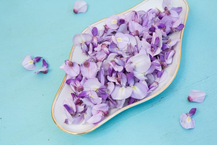 Fleurs de glycine égrappées ©Camille Oger