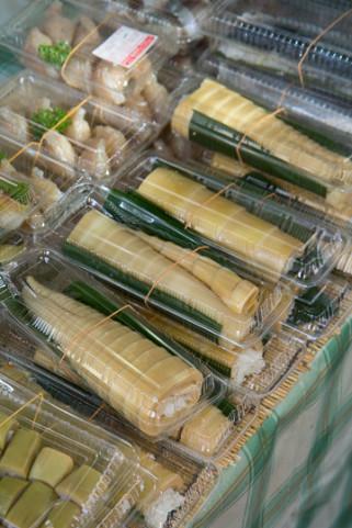 Pousses de bambou fourrées au riz © Camille Oger